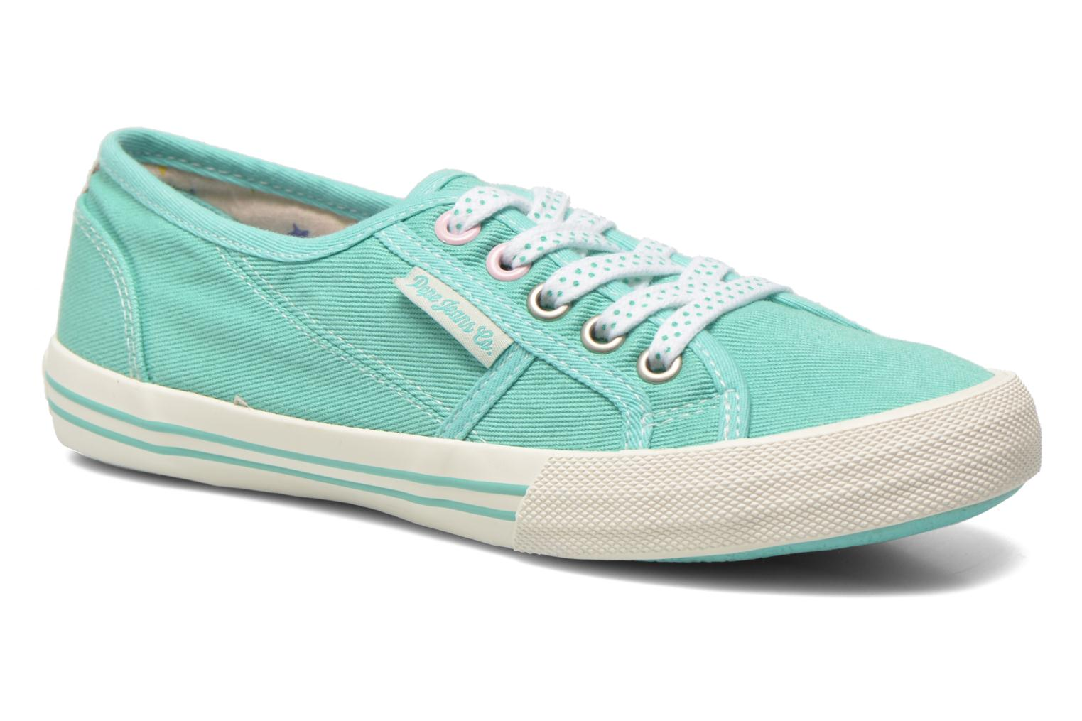 Trainers Pepe jeans Baker plain Green detailed view/ Pair view