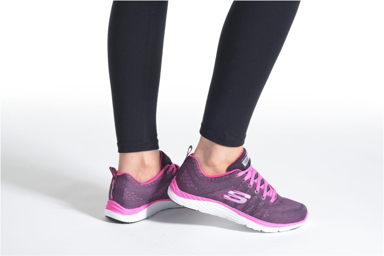Chaussures de sport Skechers Valeris Rose vue bas / vue portée sac