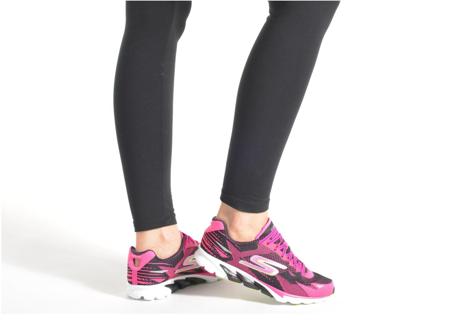 Sport shoes Skechers Go Run 4-2016 Pink view from underneath / model view