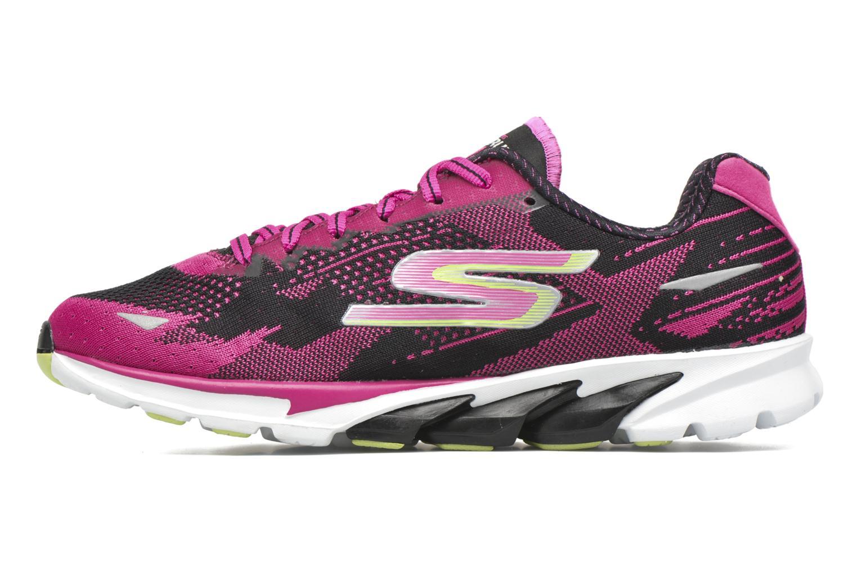 Chaussures de sport Skechers Go Run 4-2016 Rose vue face