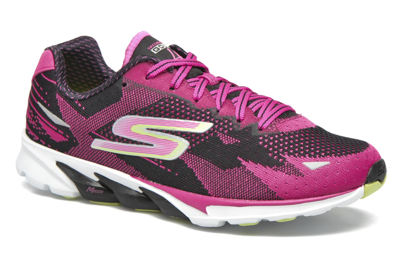 Sport shoes Skechers Go Run 4-2016 Pink detailed view/ Pair view