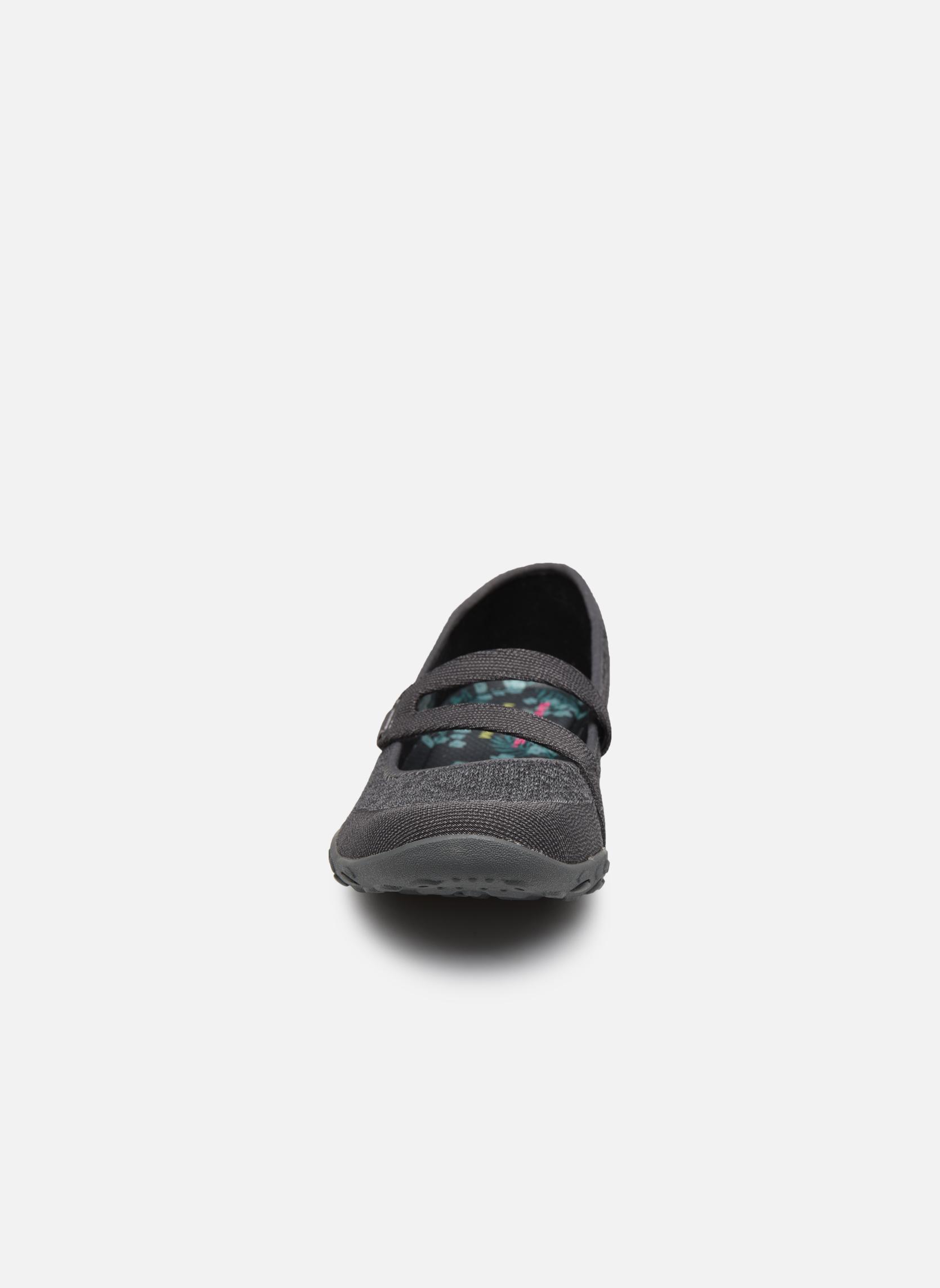 Ballerines Skechers Breathe-Easy - Lucky Gris vue portées chaussures