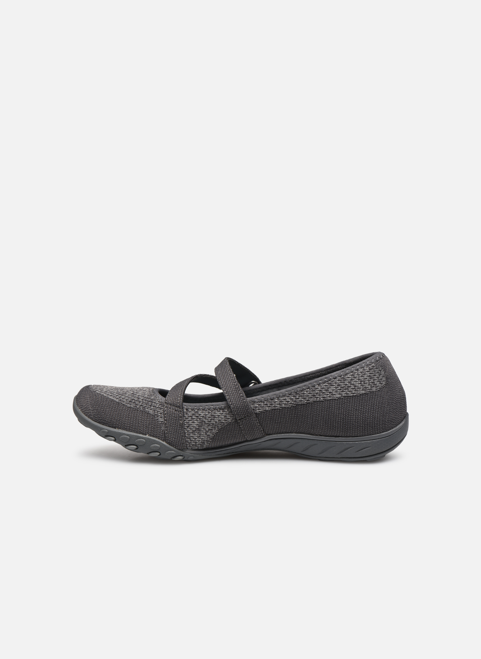 Ballet pumps Skechers Breathe-Easy - Lucky Grey front view
