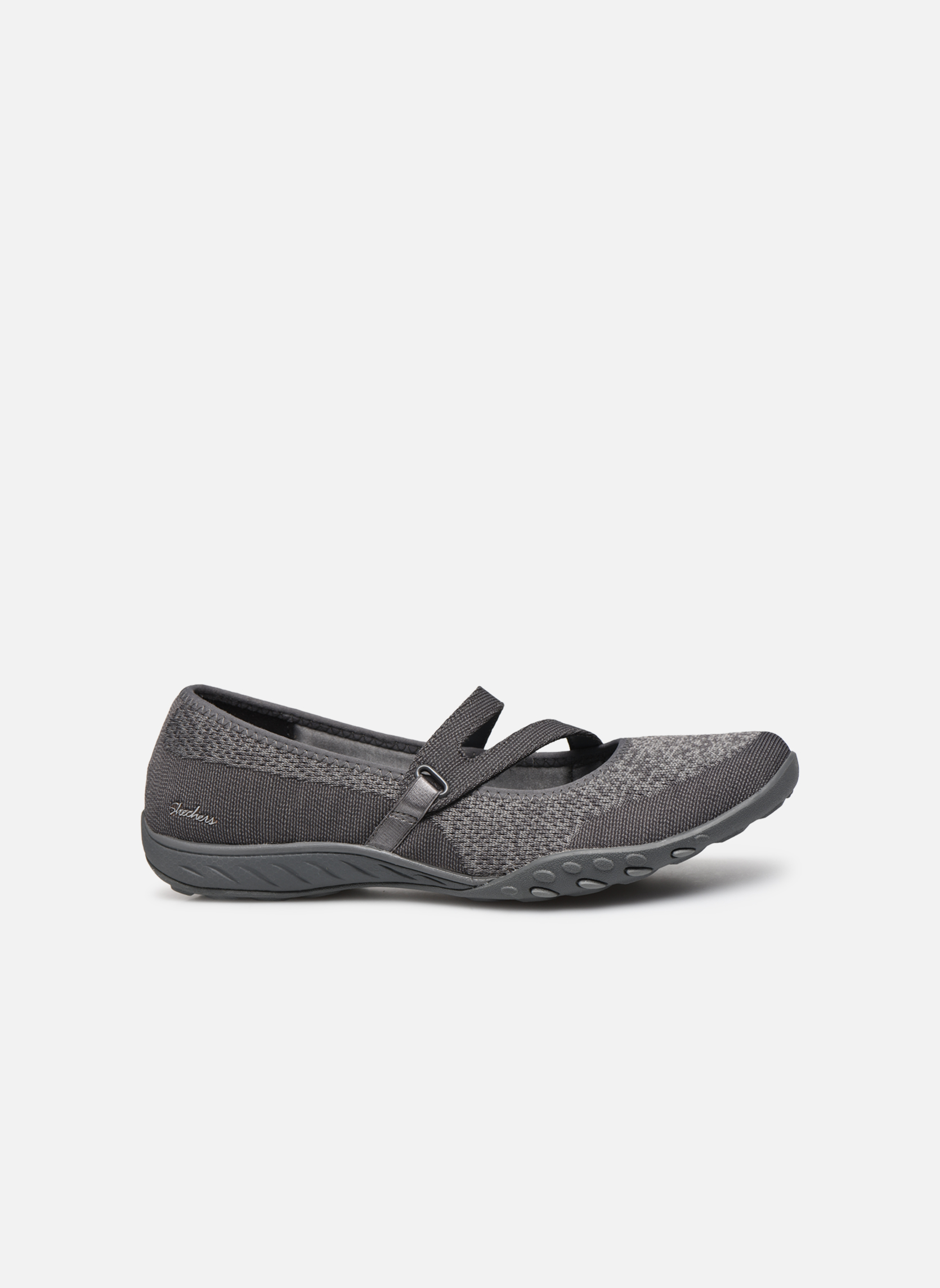 Ballet pumps Skechers Breathe-Easy - Lucky Grey back view