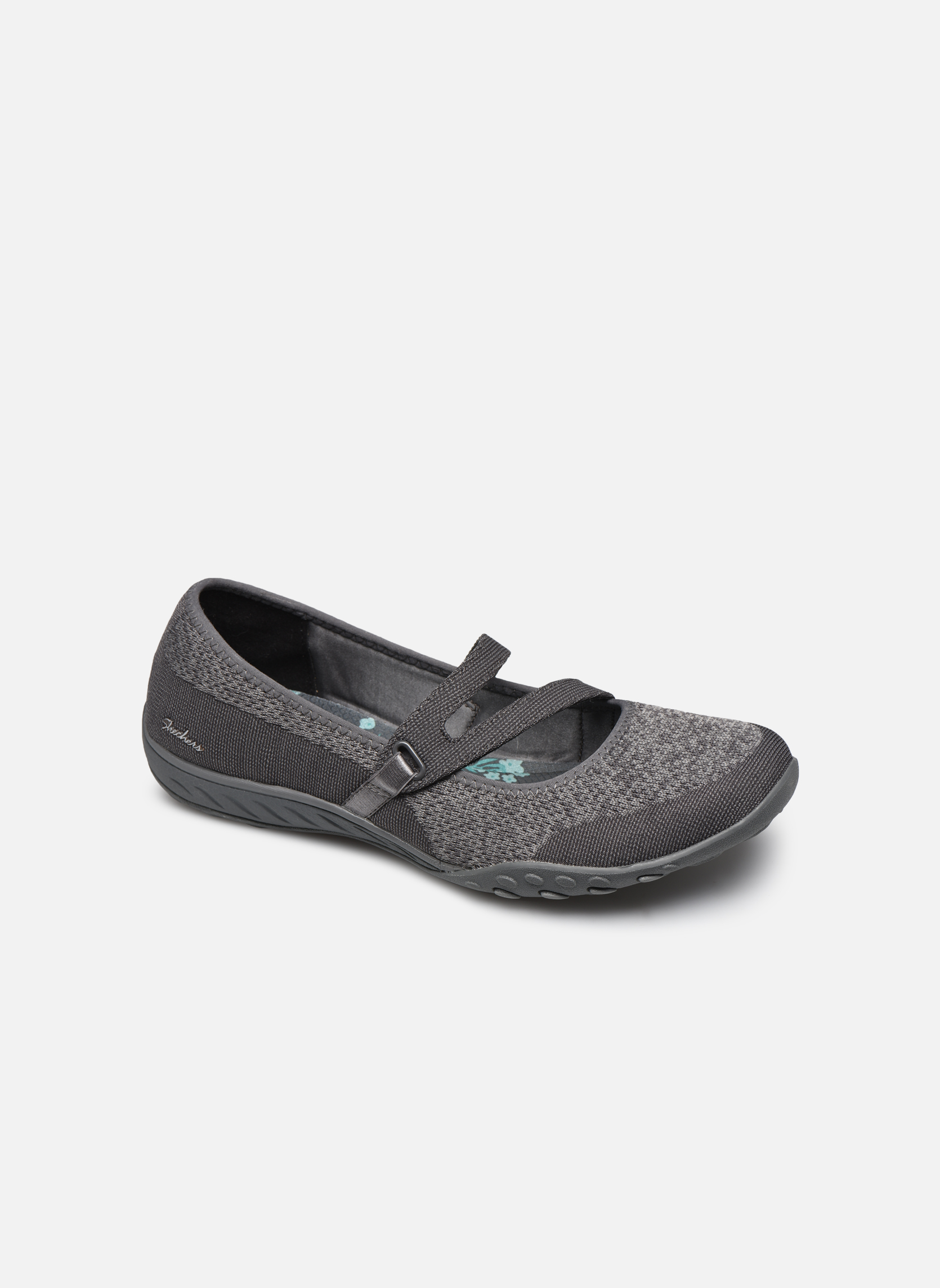 Ballet pumps Skechers Breathe-Easy - Lucky Grey detailed view/ Pair view