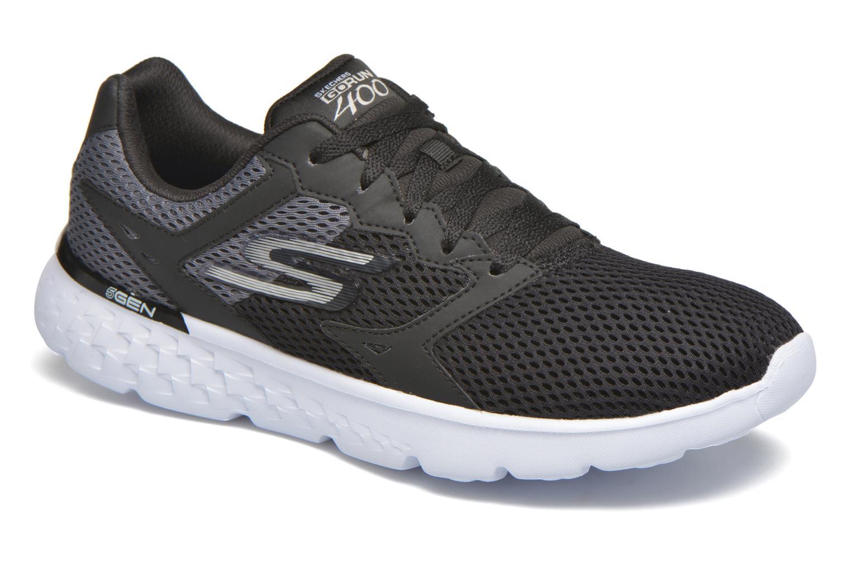 Sport shoes Skechers Go run 400 Black detailed view/ Pair view