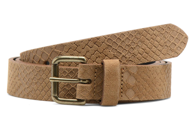 Belts Bensimon Ceinture croûte de cuir Beige detailed view/ Pair view