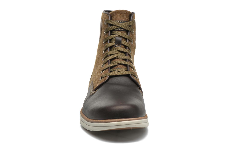 Bottines et boots Timberland Bradstreet MM Chukka Marron vue portées chaussures