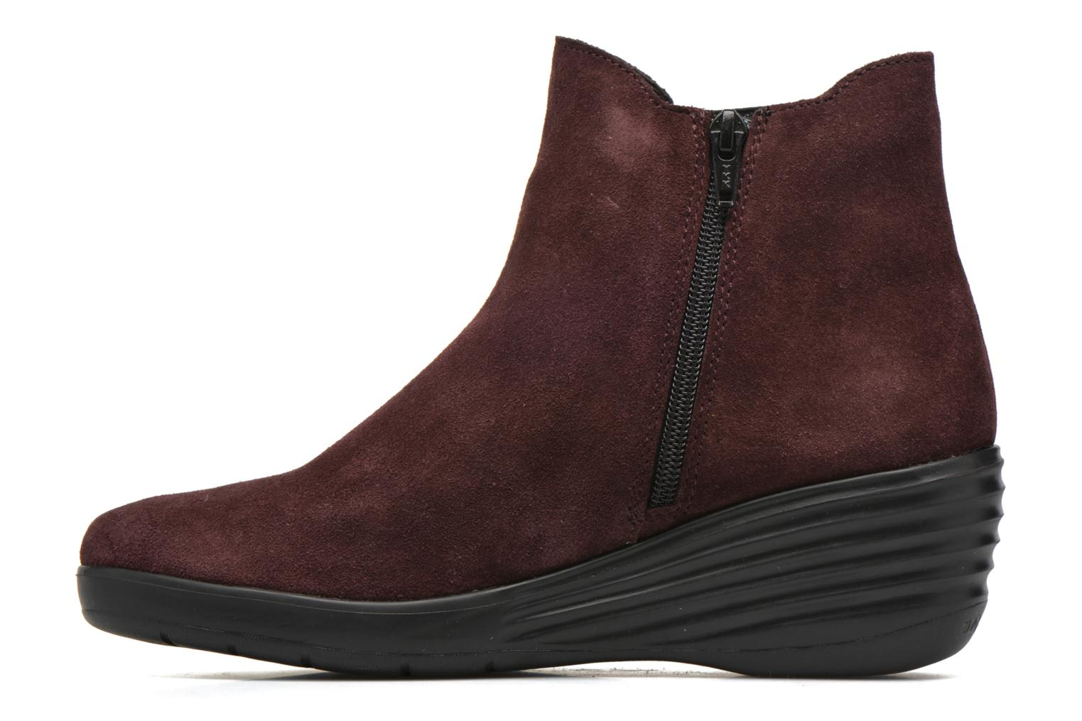 Ankle boots Stonefly Ebony 20 Burgundy front view