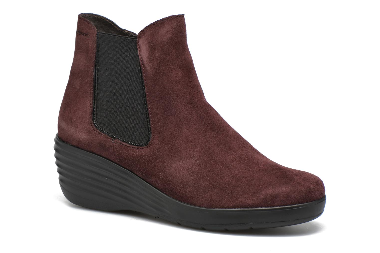 Ankle boots Stonefly Ebony 20 Burgundy detailed view/ Pair view
