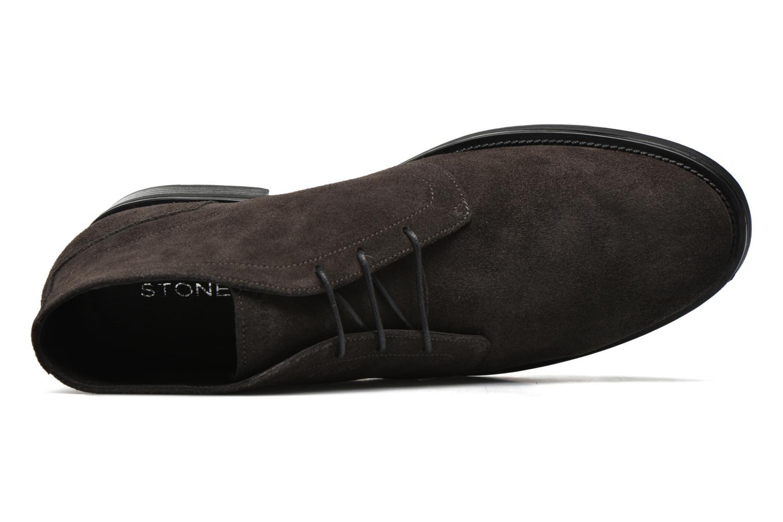Zapatos con cordones Stonefly Class 11 Gris vista lateral izquierda