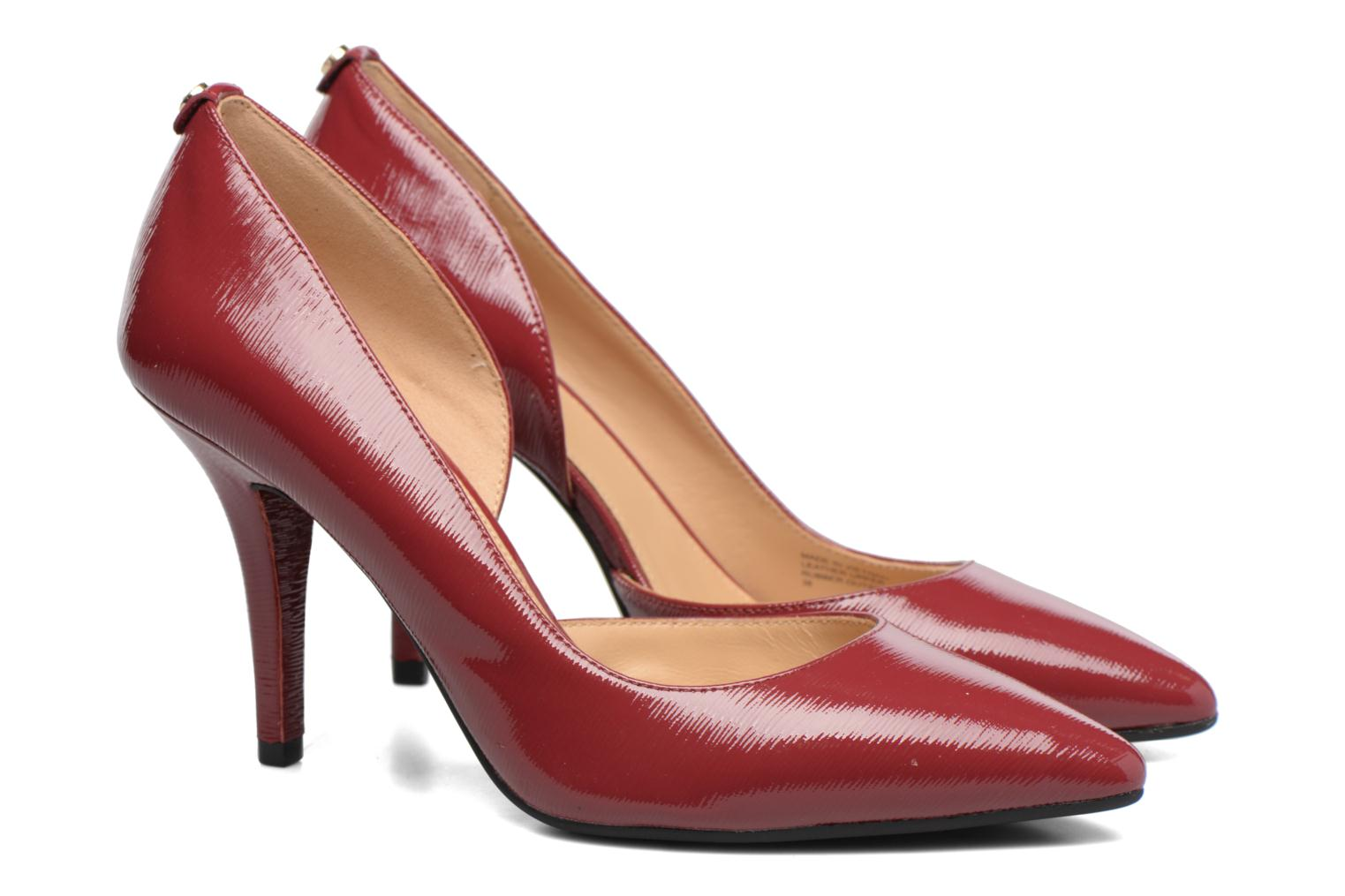 Escarpins Michael Michael Kors Nathalie Flex High Pump Bordeaux vue 3/4