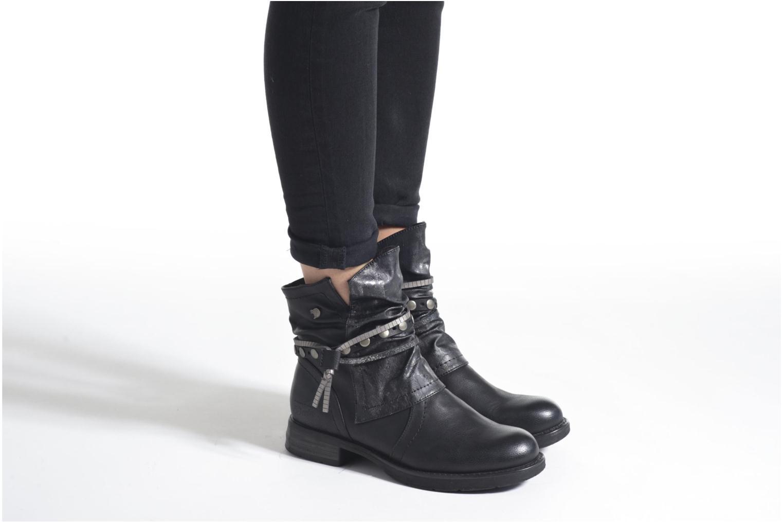 Bottines et boots Tom Tailor Laure Noir vue bas / vue portée sac