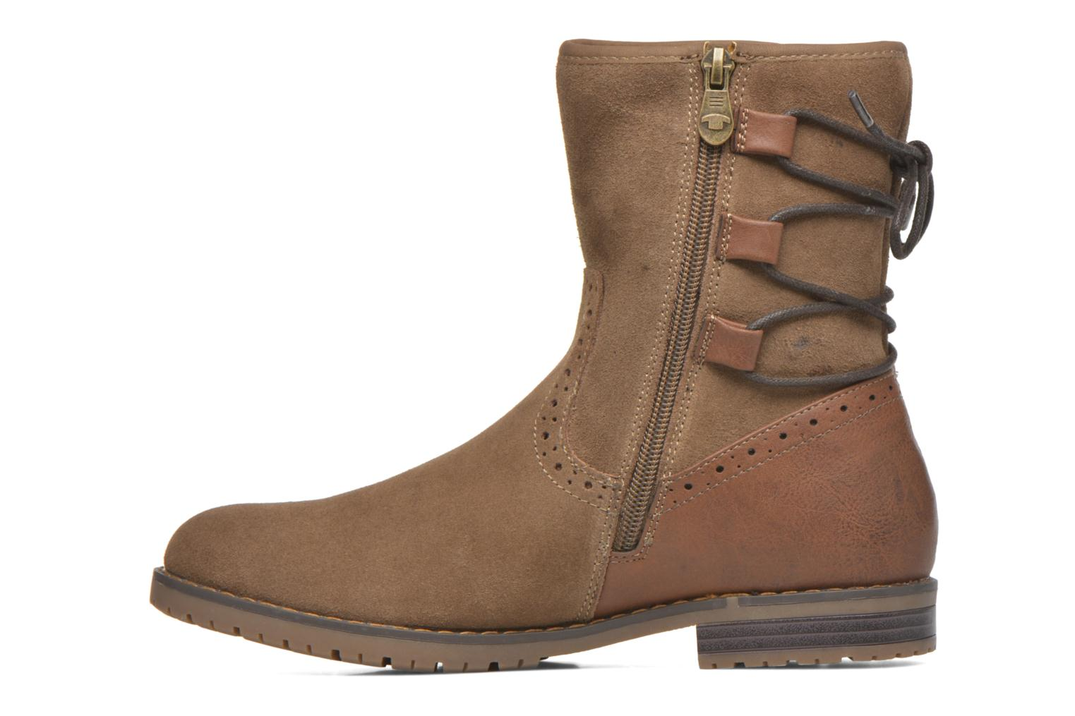 Ankle boots Tom Tailor Margaux Brown front view