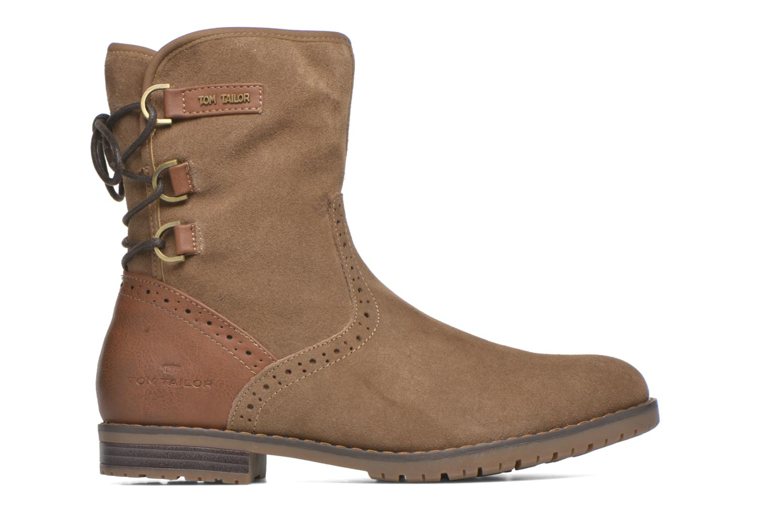 Ankle boots Tom Tailor Margaux Brown back view
