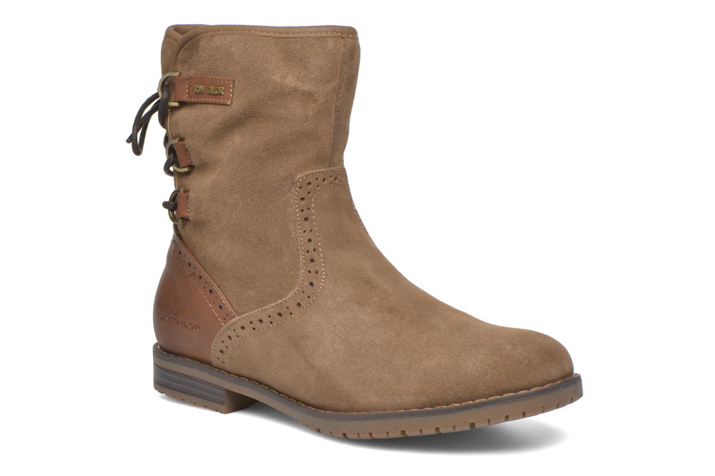 Bottines et boots Tom Tailor Margaux Marron vue détail/paire