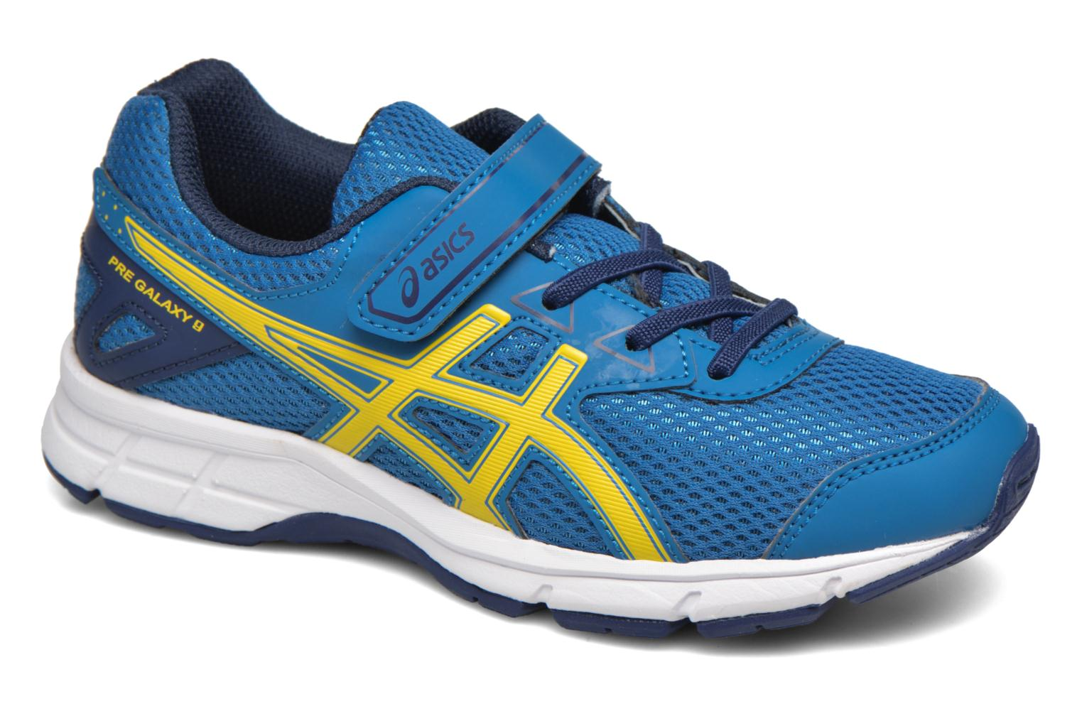 Sport shoes Asics Pre Galaxy 9 PS Blue detailed view/ Pair view