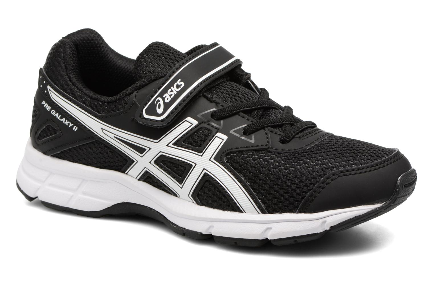 Sport shoes Asics Pre Galaxy 9 PS Black detailed view/ Pair view