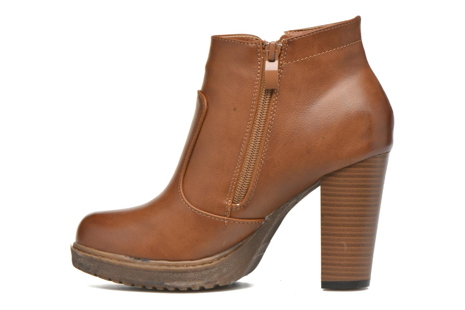 Ankle boots Eclipse Bottine Leo Brown front view