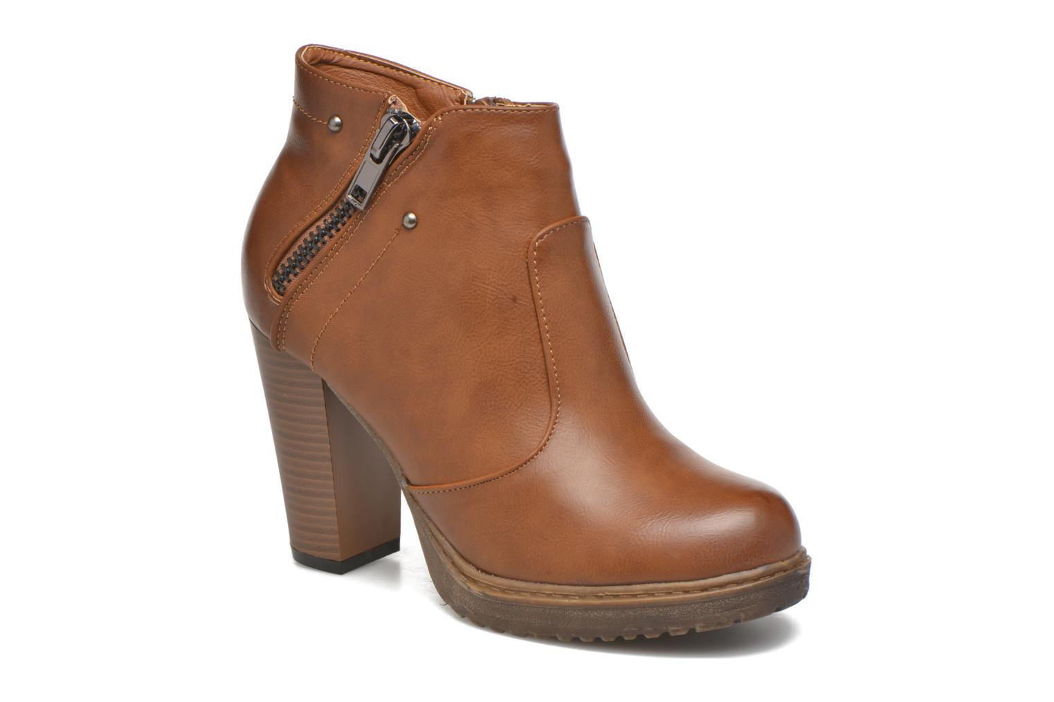 Ankle boots Eclipse Bottine Leo Brown detailed view/ Pair view