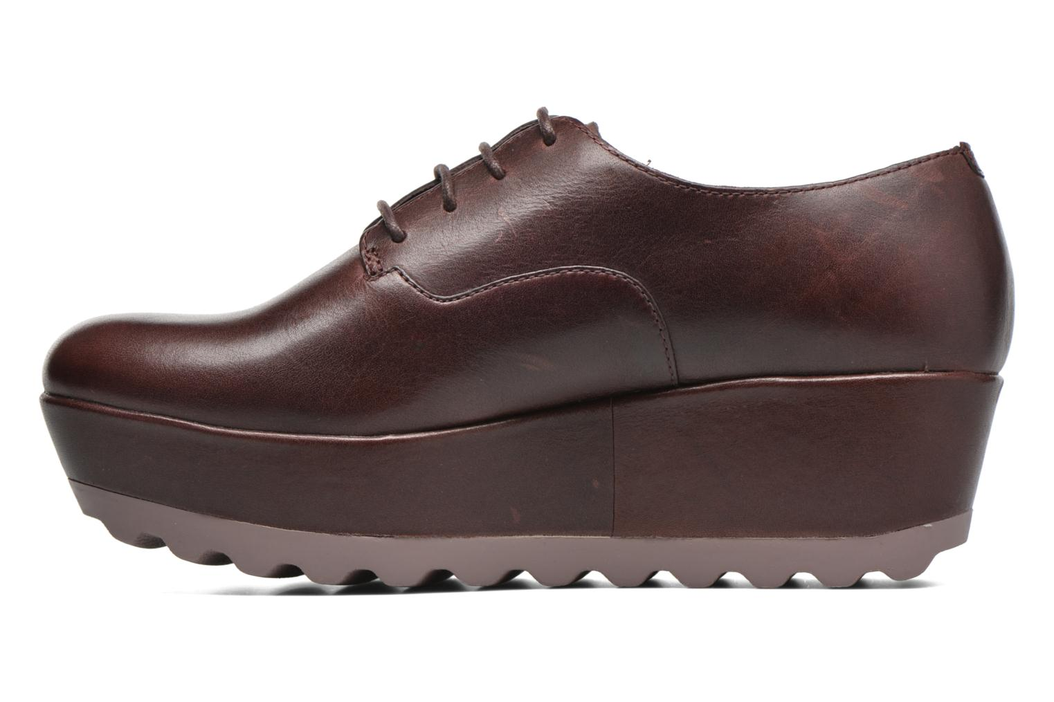 Lace-up shoes Camper Laika K200289 Burgundy front view