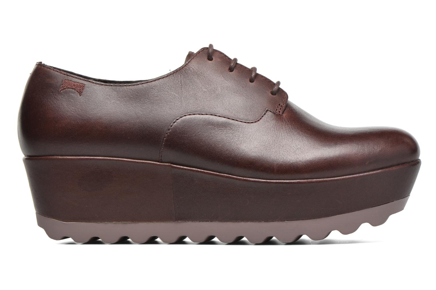 Lace-up shoes Camper Laika K200289 Burgundy back view