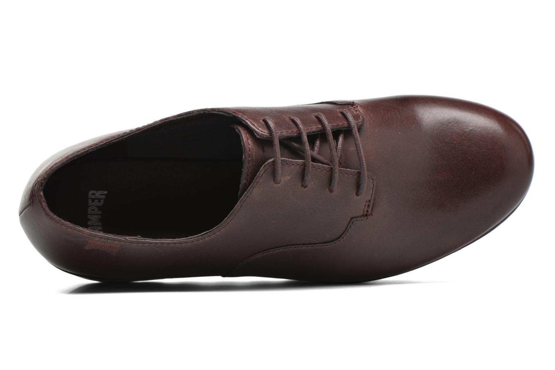Chaussures à lacets Camper Laika K200289 Bordeaux vue gauche
