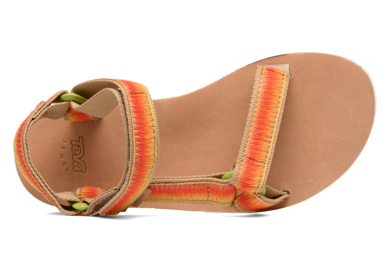Sandales et nu-pieds Teva Original Universal Ombre Orange vue gauche