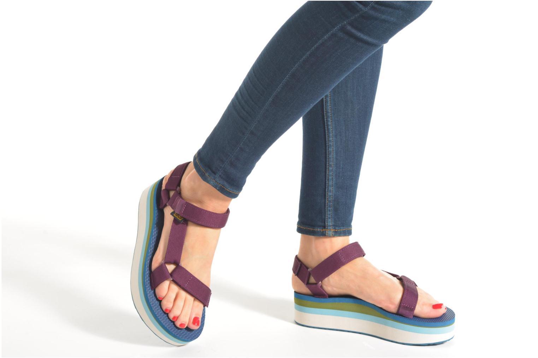 Sandales et nu-pieds Teva Flatform Universal Retro Violet vue bas / vue portée sac
