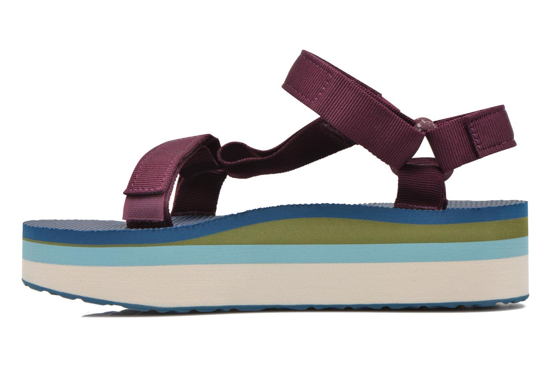 Sandales et nu-pieds Teva Flatform Universal Retro Violet vue face