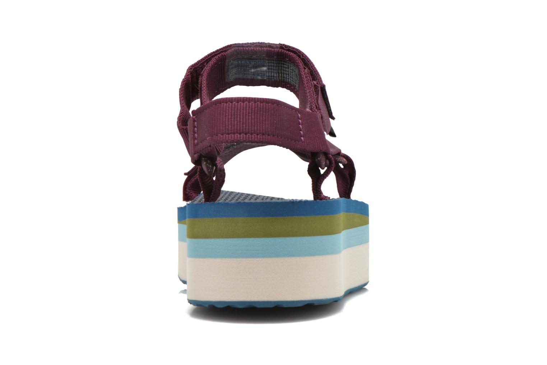 Sandales et nu-pieds Teva Flatform Universal Retro Violet vue droite