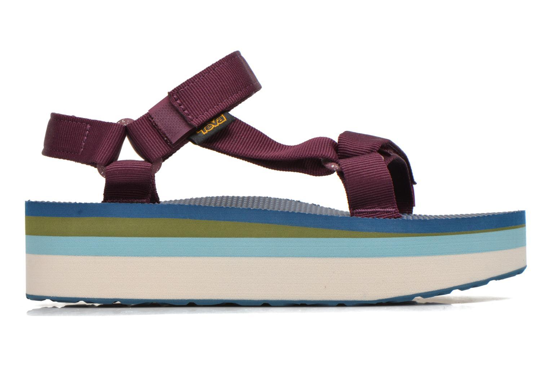Sandales et nu-pieds Teva Flatform Universal Retro Violet vue derrière