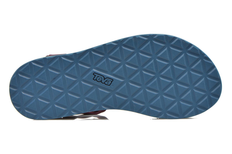 Sandales et nu-pieds Teva Flatform Universal Retro Violet vue haut