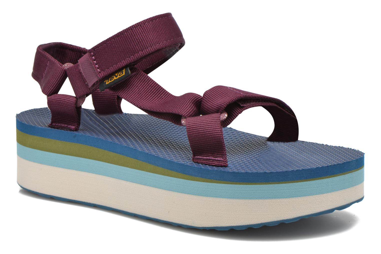 Sandales et nu-pieds Teva Flatform Universal Retro Violet vue détail/paire