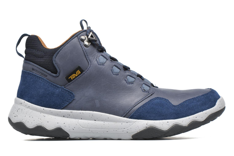 Chaussures de sport Teva Arrowood Lux Mid WP Bleu vue derrière