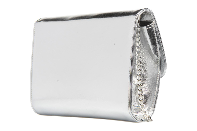Bolsos Clutch COSMOPARIS EDILA/MET Sac pochette Plateado vista lateral derecha