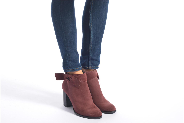 Bottines et boots Vero Moda Fena Leather Boot Bordeaux vue bas / vue portée sac