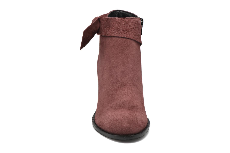 Bottines et boots Vero Moda Fena Leather Boot Bordeaux vue portées chaussures