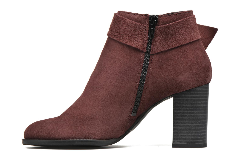 Bottines et boots Vero Moda Fena Leather Boot Bordeaux vue face
