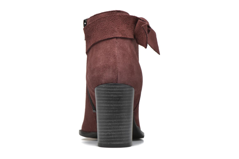 Bottines et boots Vero Moda Fena Leather Boot Bordeaux vue droite
