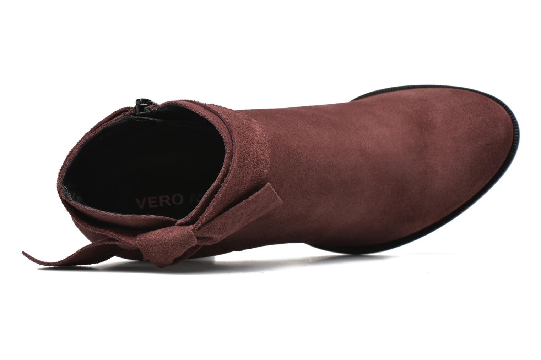 Bottines et boots Vero Moda Fena Leather Boot Bordeaux vue gauche
