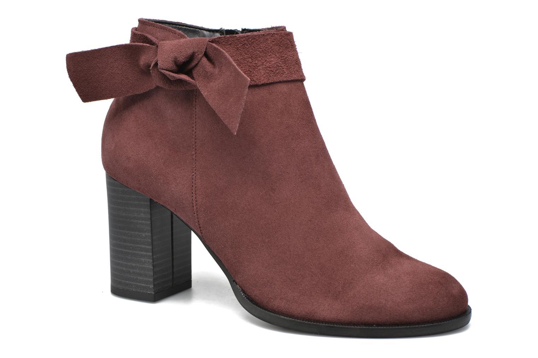 Bottines et boots Vero Moda Fena Leather Boot Bordeaux vue détail/paire