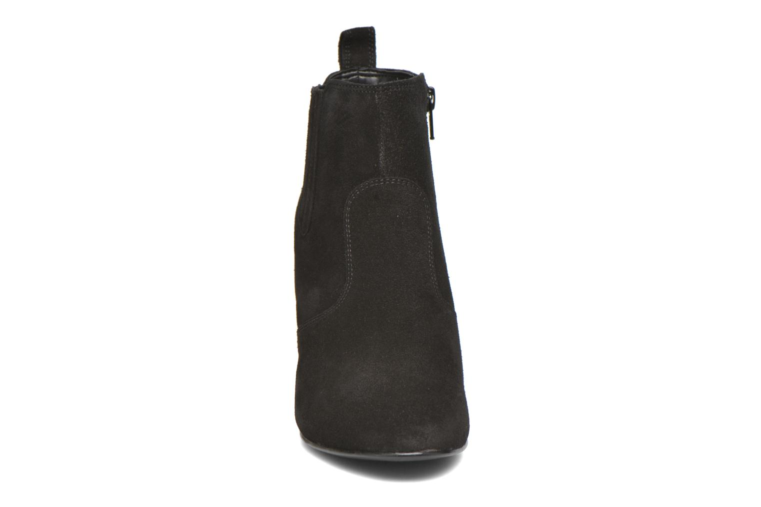 Ankle boots Vero Moda Lone Leather Wedge Boot Black model view