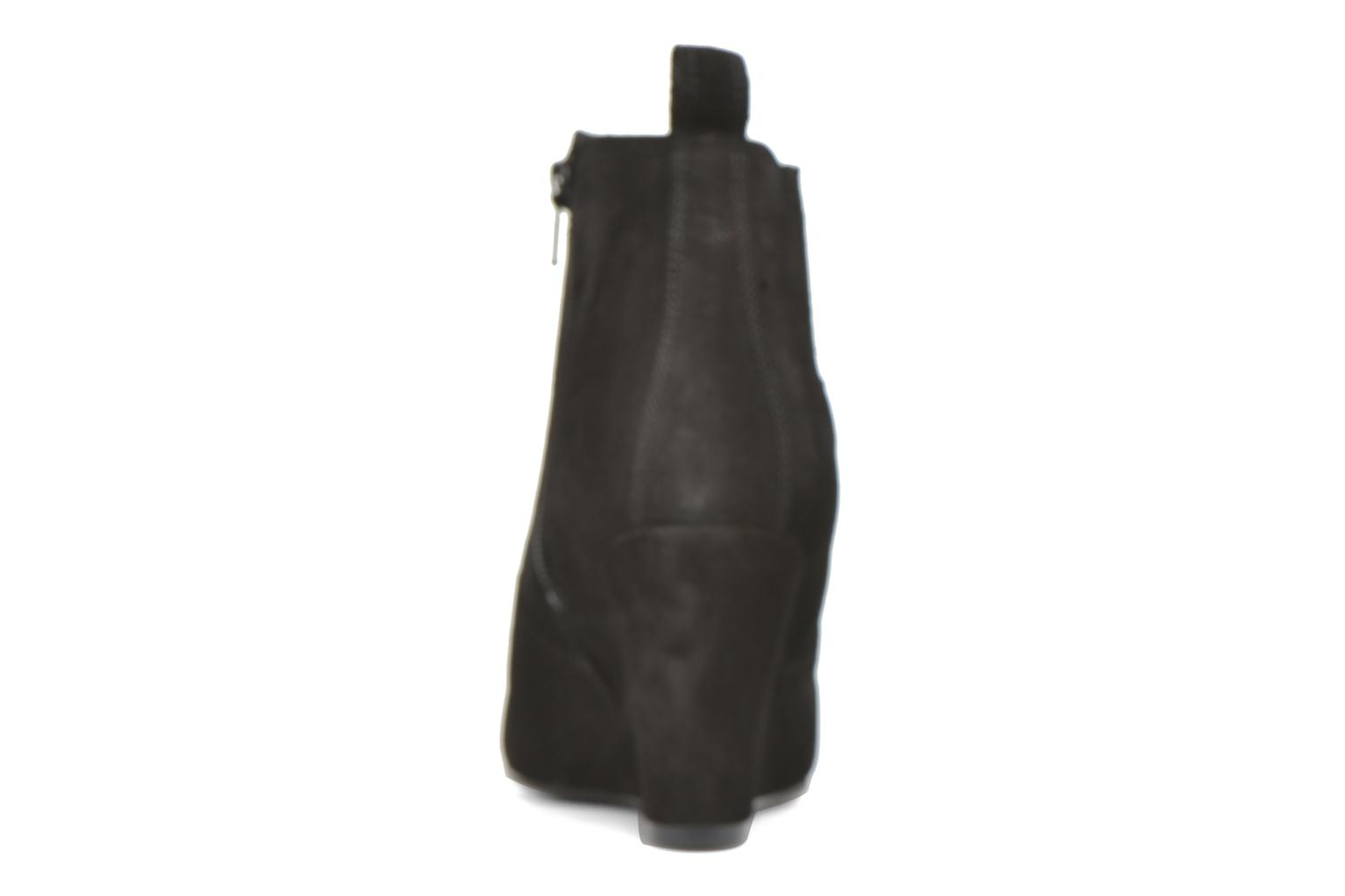 Ankle boots Vero Moda Lone Leather Wedge Boot Black view from the right