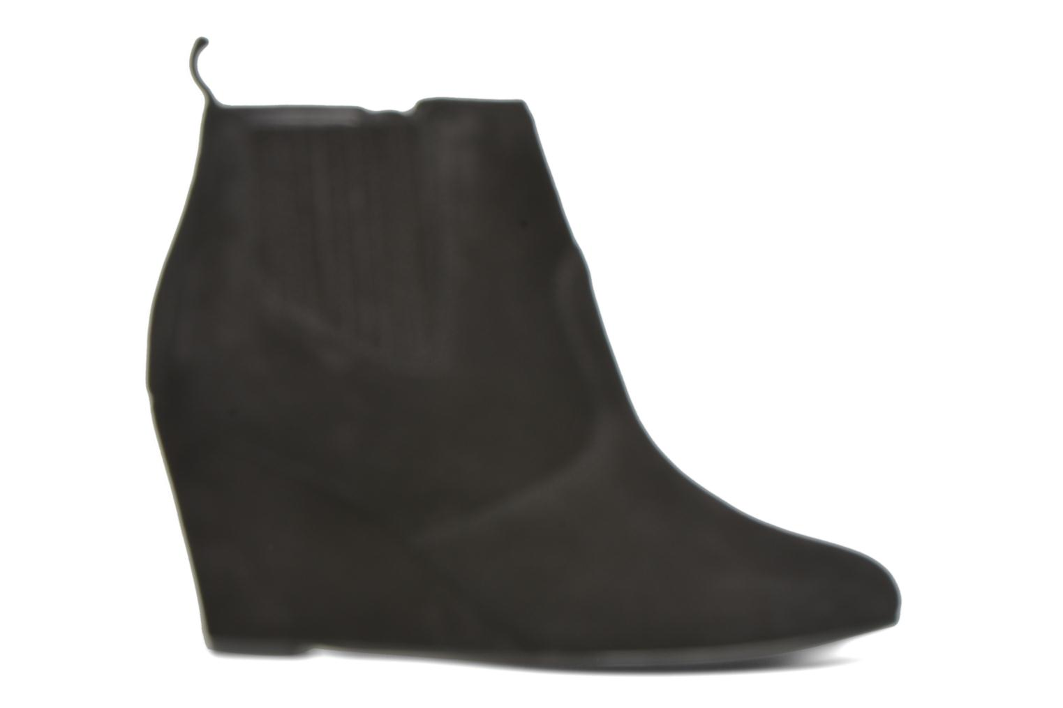 Ankle boots Vero Moda Lone Leather Wedge Boot Black back view