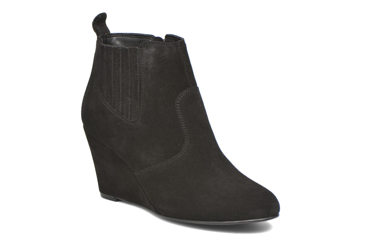 Ankle boots Vero Moda Lone Leather Wedge Boot Black detailed view/ Pair view