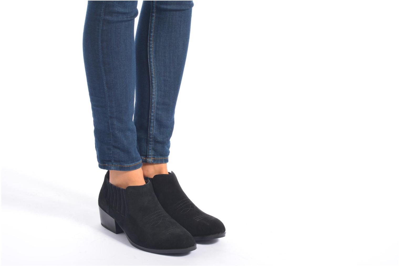 Bottines et boots Vero Moda Western Leather Low Boot Noir vue bas / vue portée sac