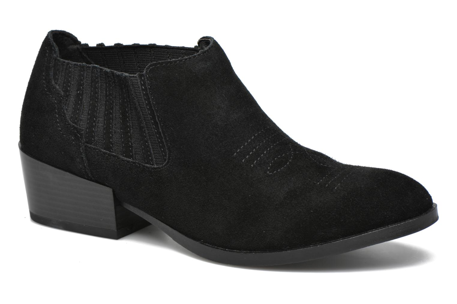 Western Leather Low Boot Black