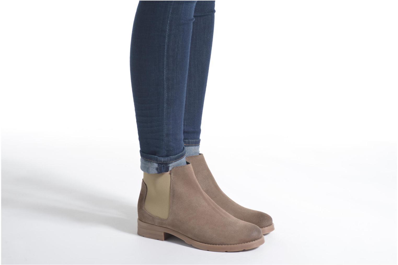 Botines  Vero Moda Sofie Leather Boot Beige vista de abajo