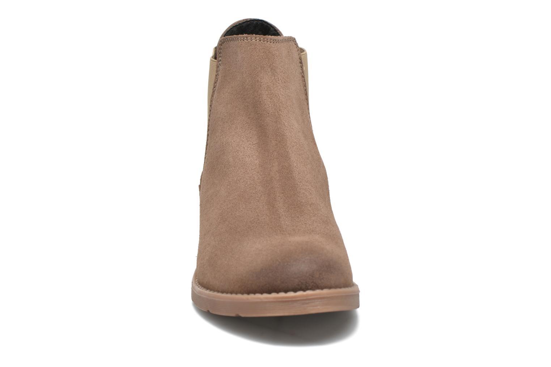 Botines  Vero Moda Sofie Leather Boot Beige vista del modelo